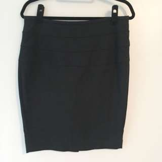 Zara High-Waisted Black Skirt