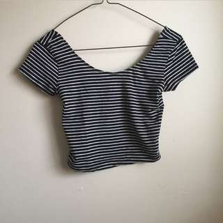 Stripped Crop Tee