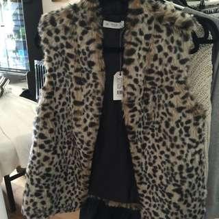 Faux Leopard Vest