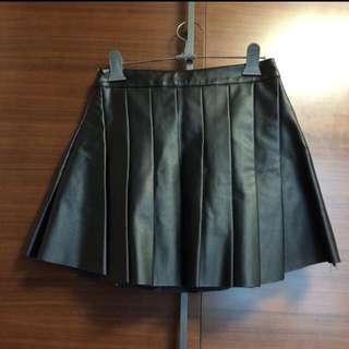 leather tennis skirt