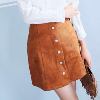 NEW: Button A-Line Skirt