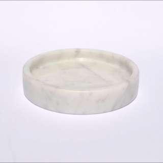 White Italian Carrara Marble 10cm Circle Tray