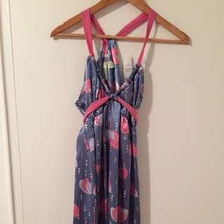 S/M Satin Summer Dress