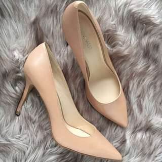 🔒Nine West Nude Leather Heels🔒