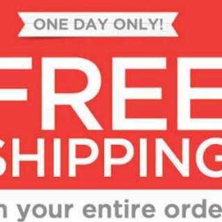 Free SHIPPING Extended Today NOV. 3, 2016
