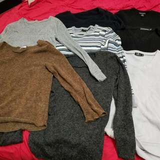 8 Pcs Mens Slim Fit Sweater. Brands Like Yd And Tarocash. Size Small. Very Good Condition.