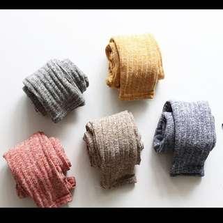 孩童全棉條紋毛線褲