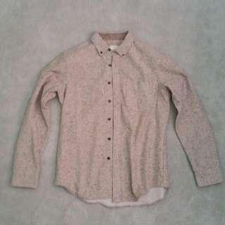 Club Monaco Japanese Wool Button Down Shirt - M
