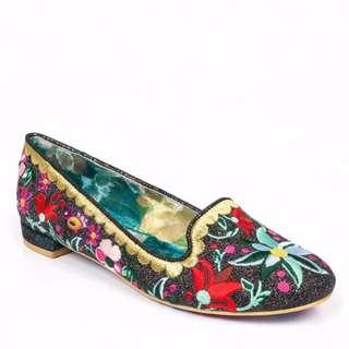 Irregular Choice Shoes - Hello Petal Black Flats SIZE EU 37