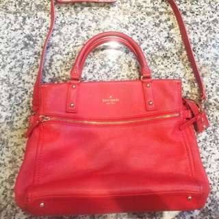 Kate Spade Cobble In Red