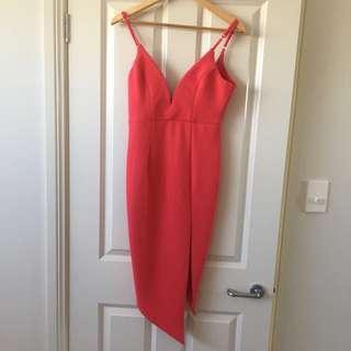 Size 10 - Watermelon Pink Dress With Split