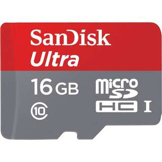 SanDisk 16GB Ultra micro SD SDHC 80MB/s Class 10 Extreme Mobile Memory Card