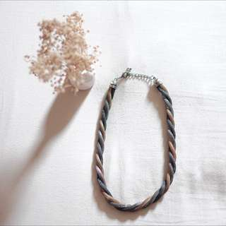 Gold-Grey Necklace