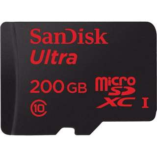 Sandisk 200GB Ultra Micro SD SDXC Class 10 90MB/s Mobile Phone TF Memory Card AU