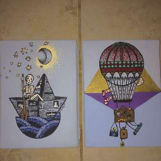 Two 5x7 Acrylic Paintings (price negotiable)