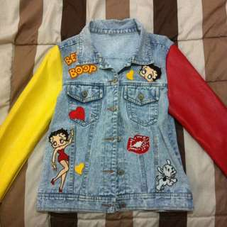 Betty Boop Denim Jacket (Jeremy Scott Replika)