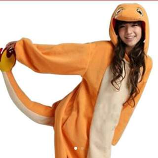 Charmander Costume Onsie With Feet Included, Halloween Costume