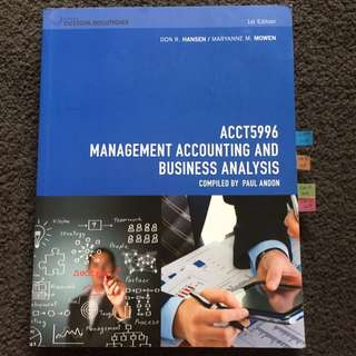 Management Accounting And Business Analysis ACCT 5996