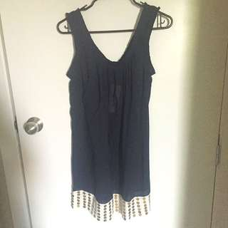 French Connection Size Small Navy Dress