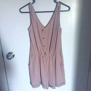 Small Size Beige/Peach Playsuit