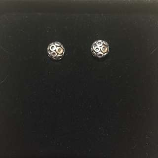 Pandora Gold And Silver Studs