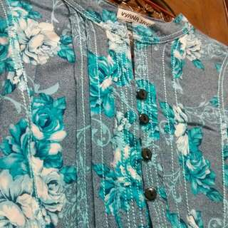 Blue Florals Blouse