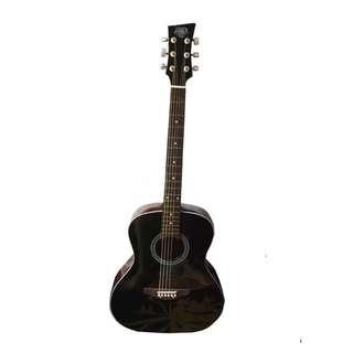 """SB Lumanog 40"""" Acoustic Guitar (Black)"""