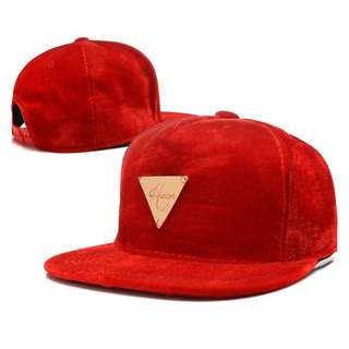 Hater Red Velvet Stock Straight Brim Baseball Cap Hat Caps Hats with Adjustable Snapback