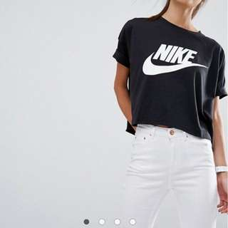 NIKE Black Crop Shirt XL
