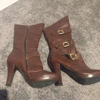 Brown Above Ankle Boots