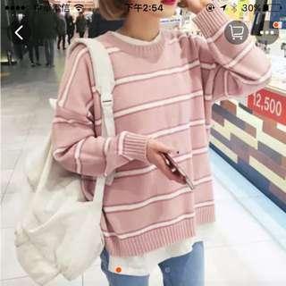 粉紅條紋(秋冬裝)