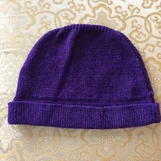 紫色毛帽#好秋服飾