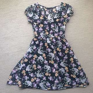 ZARA Chiffon tea dress
