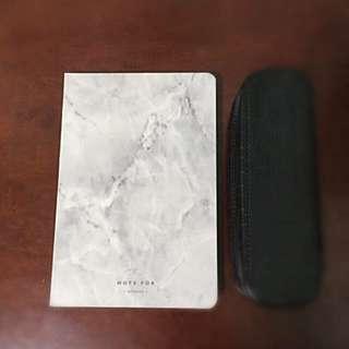 大理石空白筆記本