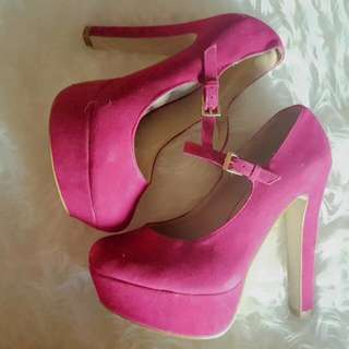 Inniu Shoes Hot Pink Platform High Heels Size 7