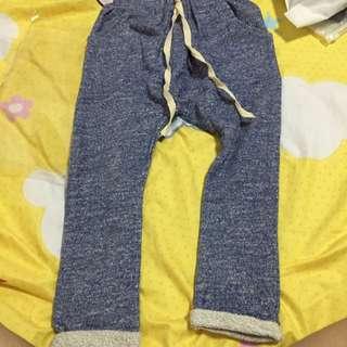 韓版牛仔藍色哈倫褲