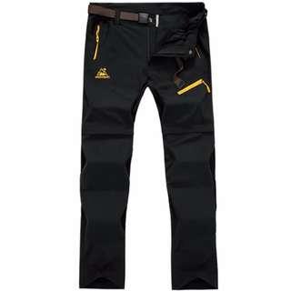 Convertible Pants-Bermudas | Black