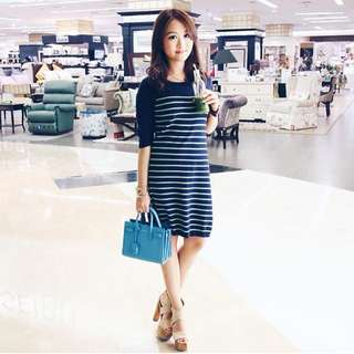 Knitted Navy Stripes Dress