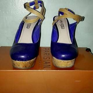 Unlimited Wedge Shoes Size 6 Dark Blue Used Only Once Reason  For selling :Closet Clean Up