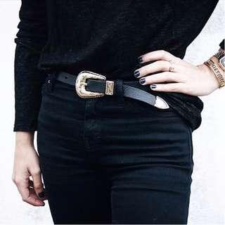 CC Collection 代購 B-Low The Belt 復古雕花銀色單扣頭細版牛皮腰帶