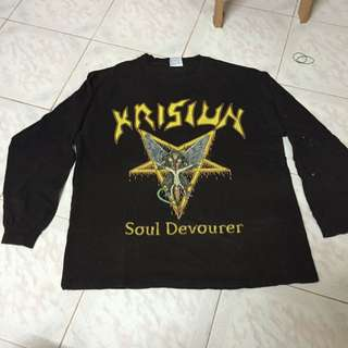 KRISIUN RARE CONQUERORS OF ARMAGEDDON TOUR 205 Long Sleeve Shirt M