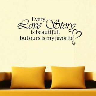 Wall Sticker Every Love Story