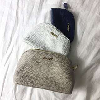 Brand New Authentic DKNY Trio Pouches