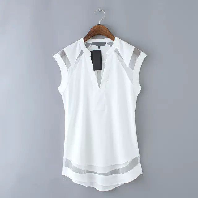 41203 - Mesh Line Casual Top (Available in 2 Colors)