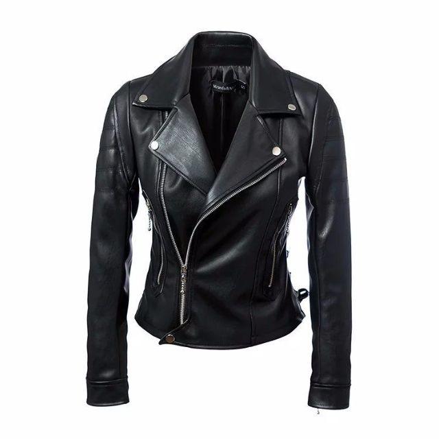 41360 - Black leather jacket