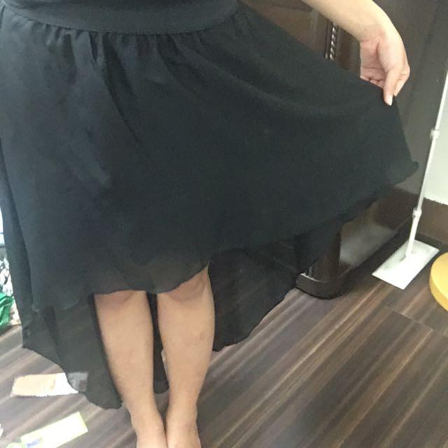 前短後長的裙子