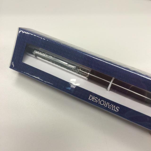 全新 正品 Swarovski 施華洛世奇水晶筆 黑色