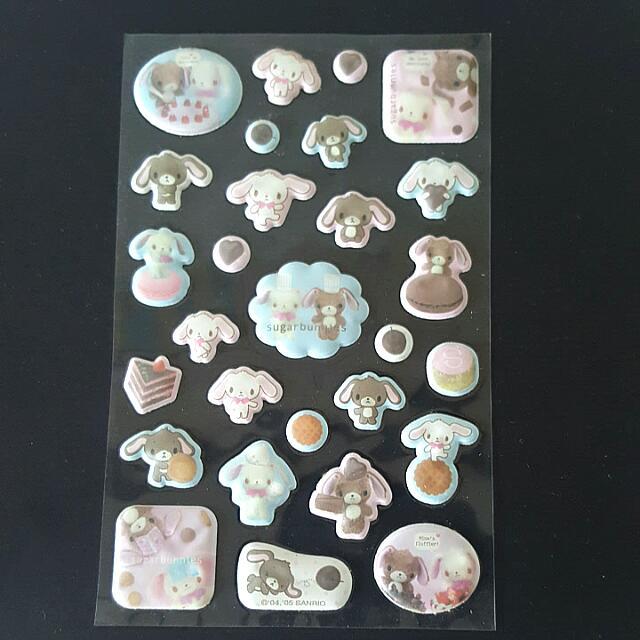 日本帶回 Sugarbunnies 貼紙 2005年