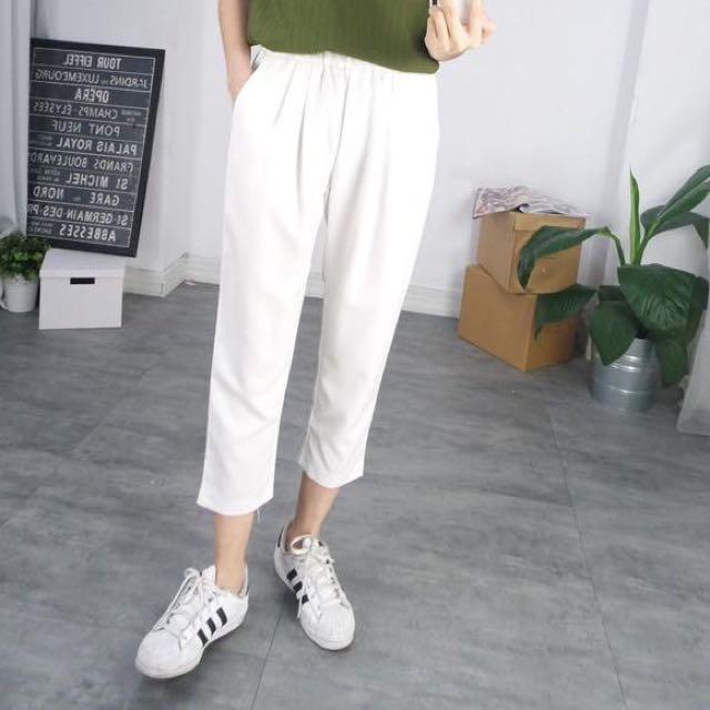 轉賣 Truda Moda 白色鬆緊休閒褲