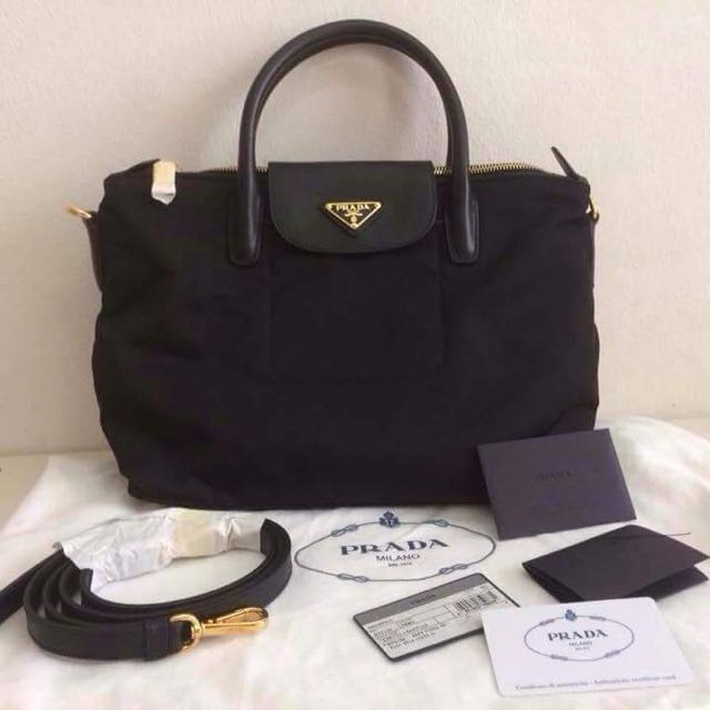 70076be2ab3e netherlands prada tessuto nylon tote bn2106 black 1e11e c423c; coupon  authentic prada tessuto nylon tote luxury bags wallets on carousell c1015  04d91